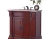 36″ Solid Wood Bathroom Vanity in Travertine Top
